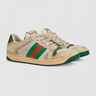 Gucci Mens Screener Leather sneaker