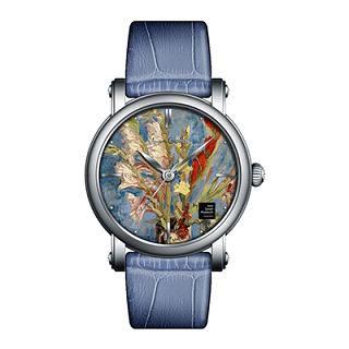 VAN GOGH   Vase with Gladioli and Chinese Asters Leather Watch (Lady 11)