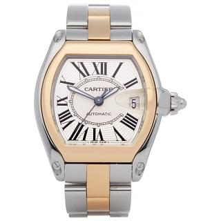 Cartier Roadster 2510 18K Gold Steel Automatic