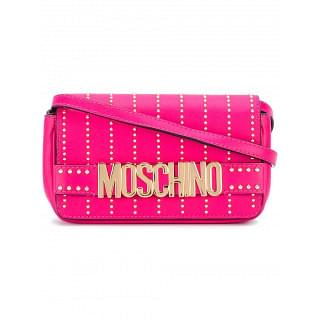 Moschino Pink Leather studded Letters Crossbody Bag