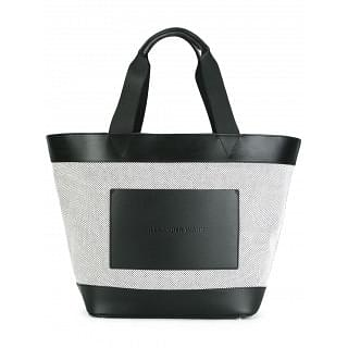 Alexander Wang Black and White Cotton Tote