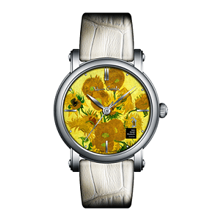 Van gogh Sunflower Leather Watch (Lady 13)