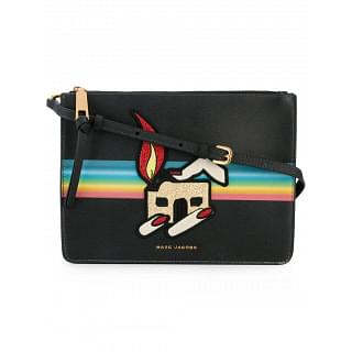 Marc Jacobs Black Printed Patch Pouch