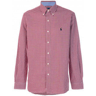 Ralph Lauren White and Red Cotton Gingham Shirt