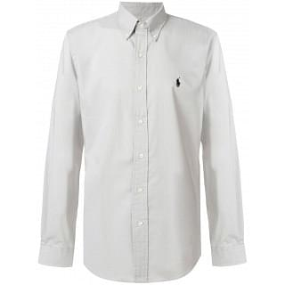 Ralph Lauren Grey Cotton Button-down Collar Shirt