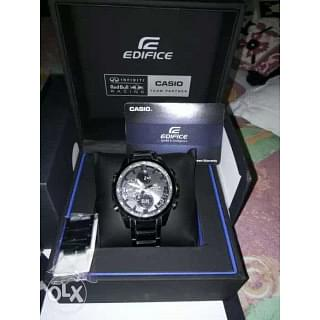 Casio Black Edifice ECB500 Chronograph Watch