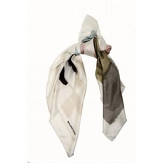 Balenciaga Colour Block Silk Scarf