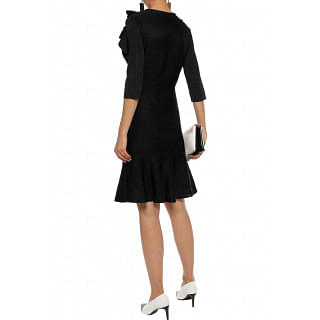 Lanvin Ruffled stretch-knit dress