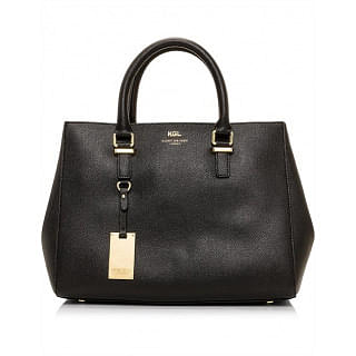 Kurt Geiger Richmond Black Textured Tote