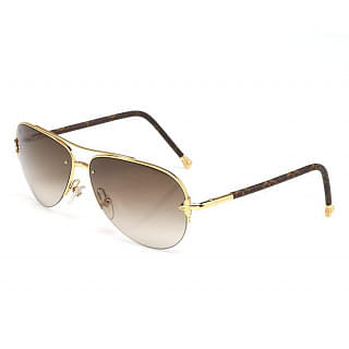Louis Vuitton Goldtone Monogram Petite Viola Pilote Sunglasses