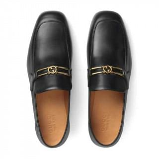 Gucci Interlocking G Leather Loafer