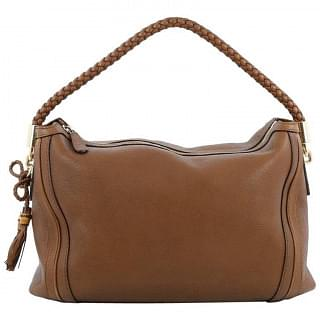Gucci Bella Medium Brown Leather Hobo Bag