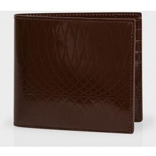 Paul Smith Men's Chocolate Brown Patent Leather Billfold Wallet