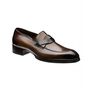 Tom Ford Elkan Twisted-Band Loafers