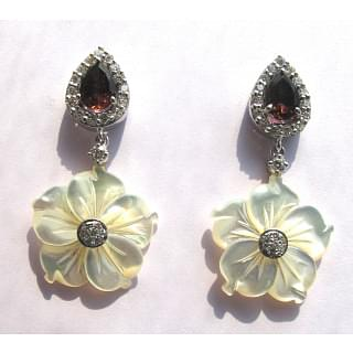 Floral Mother of Pearl Earrings