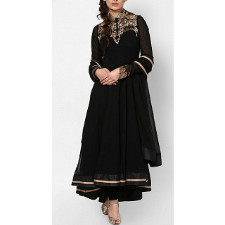 Gaurav Gupta Black and Gold Indian Suit