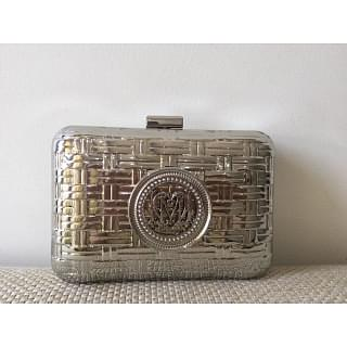 Moschino Metallic Clutch with Chain