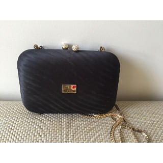 Moschino Black Clutch with Chain