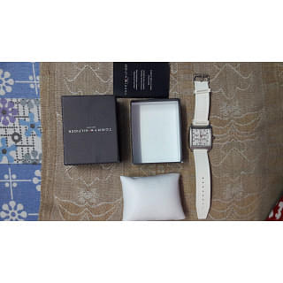 Tommy Hilfiger  White Square Dial Watch