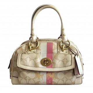 Coach 13194 Heritage Stripe Small Dome Handbag