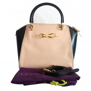 Ted Baker Lailey Metal Slim Bow Leather Tote