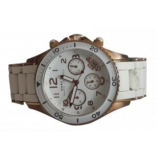 Marc Jacob White and Rose Gold women's watch