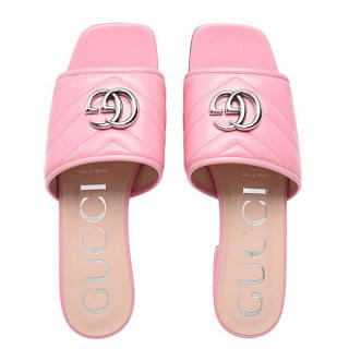 Gucci Womens Double G Slide Sandal
