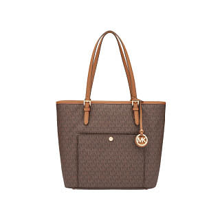 Michael Kors Signature Jet Set Snap Pocket Tote