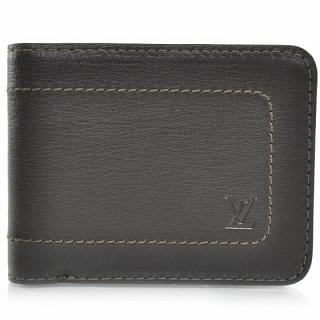 Louis Vuitton Utah Leather Billfold 6 Cards Wallet