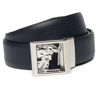 Versace Half Medusa Square Buckle Belt