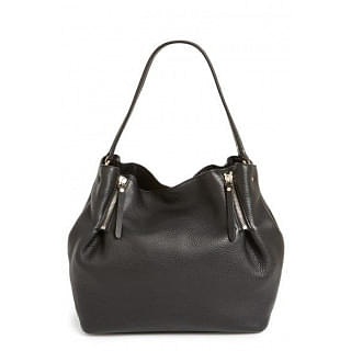 Burberry Maidstone Black Leather Tote