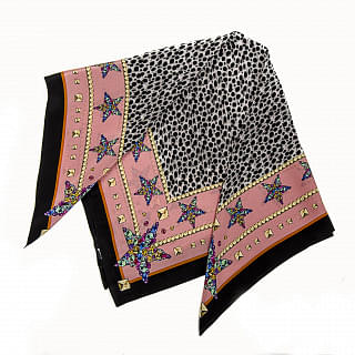 Just Cavalli Silk Multicolor Scarf