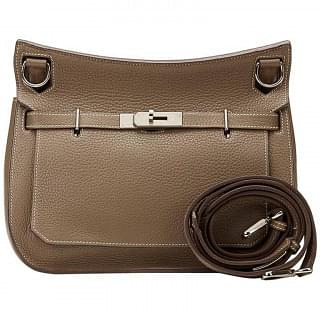 Hermes Jypsiere 28 Clemence Leather Cross Body Bag