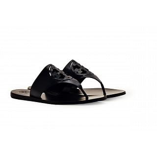 Tory Burch Black Navy Zoey Thong Sandals