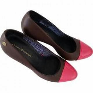 Tommy Hilfiger Closed Court Pink and Brown Shoes