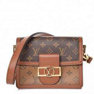 Louis Vuitton Monogram Reverse Canvas Mini Dauphine Handbag