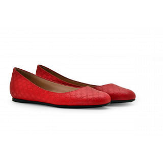 Gucci Microguccissima Red Ballet Shoes