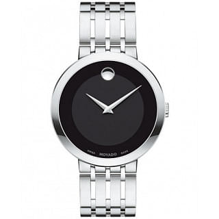 MOVADO  Esperanza Black Dial Stainless Steel Men's Watch