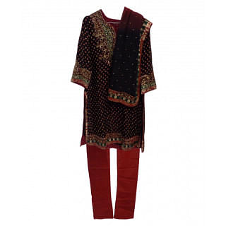 Ritu Kumar Red and Black Kurta