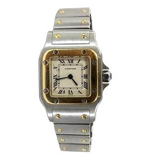 Cartier Santos Galbee Steel Yellow Gold Women Watch 1057930