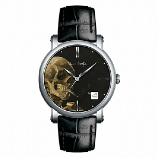 VAN GOGH Head of a Skeleton with a Burning Cigarette Leather Watch (Gent 06-1)