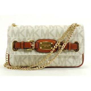 Michael Kors Hamilton Small Vanilla Flap Shoulder Bag