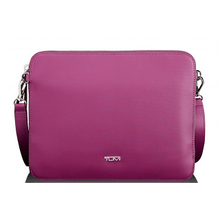 TUMI Prism Slim Zip Top Pink Crossbody
