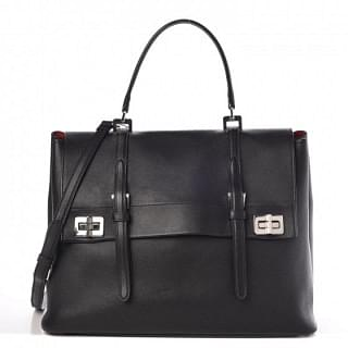 Prada Lux Calf Large Flap Satchel Bag
