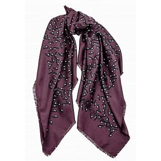 Balenciaga Black And Maroon Silk Scarf