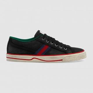 Gucci Mens Black Gucci Tennis 1977 Sneaker