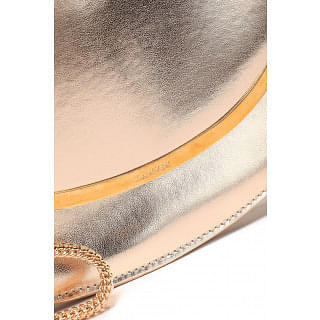 Lanvin Metallic faux leather clutch