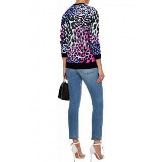 Versace Printed cotton-fleece sweatshirt