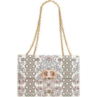 Tory Burch Gemini Large Printed Link Chain Shoulder Bag