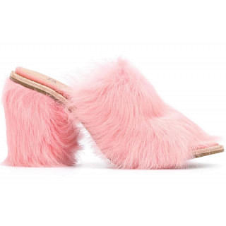 UGG Rosa Pink Fluff Heeled Mules